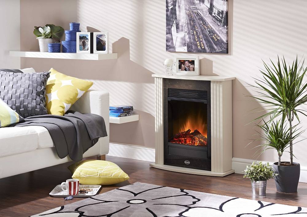 Dimplex Mmz15e Mini Mozart Optiflame, Small Faux Stone Electric Fireplace