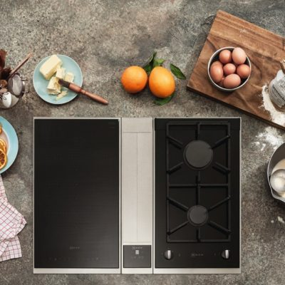 Image of Neff cooking appliances and hob for cooking demonstration