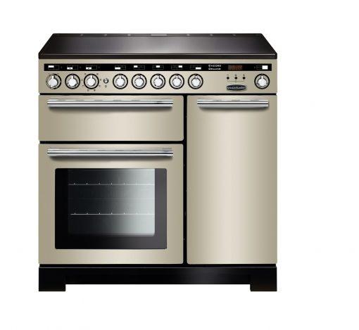 Rangemaster Range Ovens Online - Rangemaster Encore Deluxe 90cm Induction Cooker Ivory/Chrome