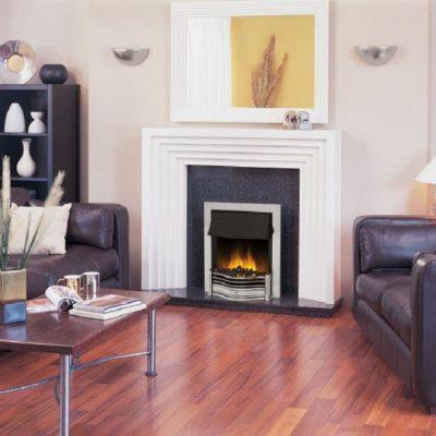 Inset Fire - Danesbury Chrome - DAN20CH-LED