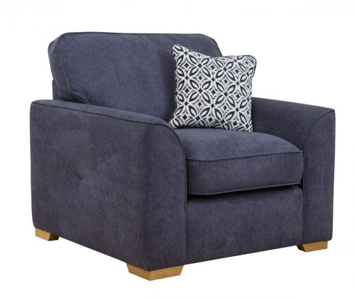Quinn arm chair angled