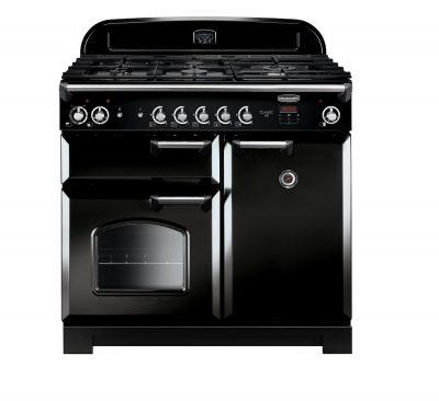 Rangemaster Range Ovens Online - Rangemaster Classic 100cm Dual Fuel Cooker Black