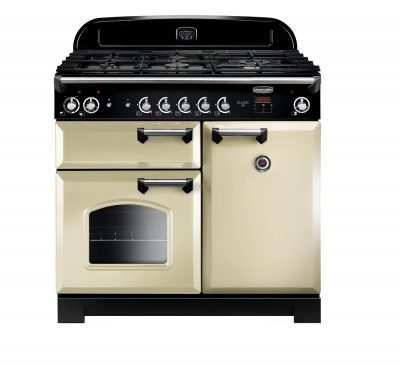 Rangemaster Range Ovens Online - Rangemaster Classic 100cm Dual Fuel Cooker Cream