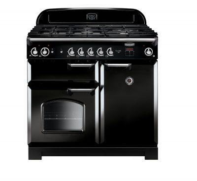 Rangemaster Range Ovens Online - Rangemaster Classic 100cm Natural Gas Cooker Black