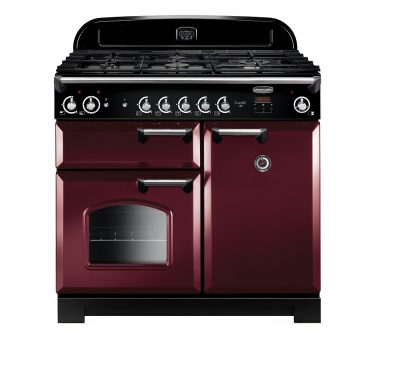 Rangemaster Range Ovens Online - Rangemaster Classic 100cm Natural Gas Cooker Cranberry