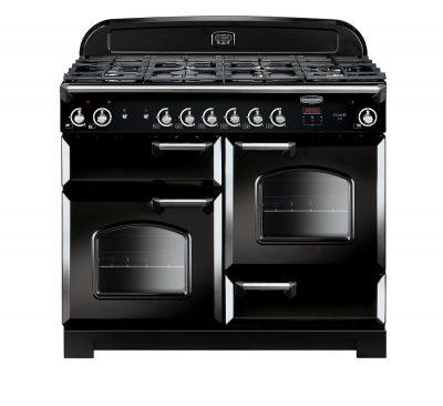 Rangemaster Range Ovens Online - Rangemaster Classic 110cm Natural Gas Cooker Black