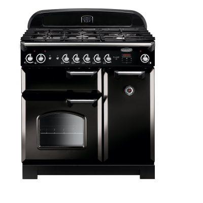 Rangemaster Range Ovens Online - Rangemaster Classic 90cm Natural Gas Cooker Black