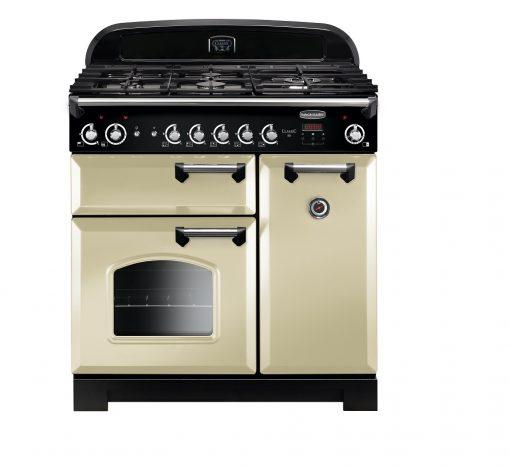 Rangemaster Range Ovens Online - Rangemaster Classic 90cm Natural Gas Cooker Cream