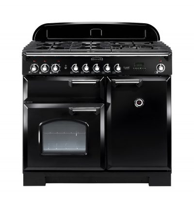 Rangemaster Range Ovens Online - Rangemaster Classic Deluxe 100cm Dual Fuel Cooker Black/Chrome