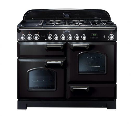 Rangemaster Range Ovens Online - Rangemaster Classic Deluxe 110cm Duel Fuel Cooker Black/Chrome