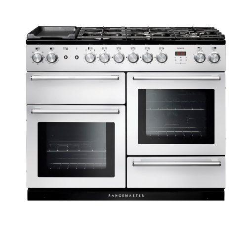 Rangemaster Range Ovens Online - Rangemaster Nexus 110cm Dual Fuel Cooker White/Chrome