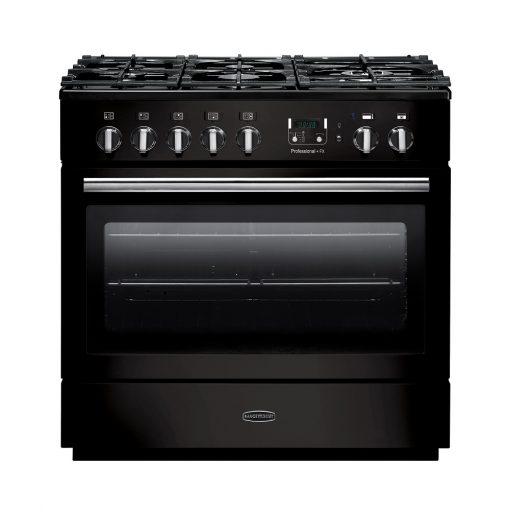 Rangemaster Range Ovens Online - Rangemaster Professional+FX 90cm Dual Fuel Graphite Black