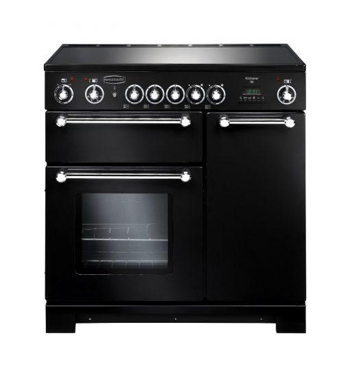 Rangemaster Range Ovens Online - Rangemaster Kitchener Black 90cm Ceramic