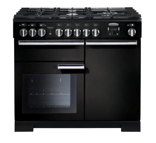 Rangemaster Range Ovens Online - Rangemaster Professional Deluxe 100cm Dual Fuel Cooker Black