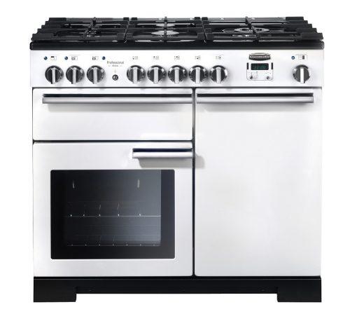 Rangemaster Range Ovens Online - Rangemaster Professional Deluxe 100cm Dual Fuel Cooker White