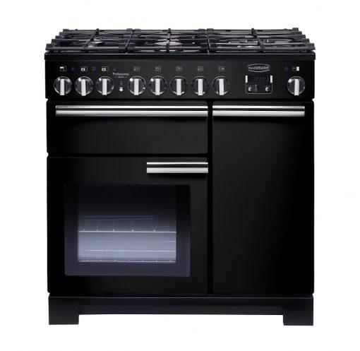 Rangemaster Range Ovens Online - Rangemaster Professional Deluxe 90cm Dual Fuel Cooker Black