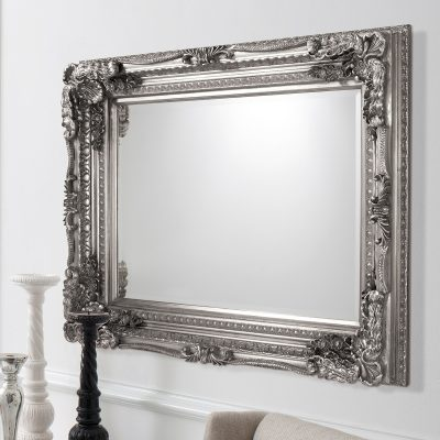 5055299406342-Carved Louis Mirror Silver
