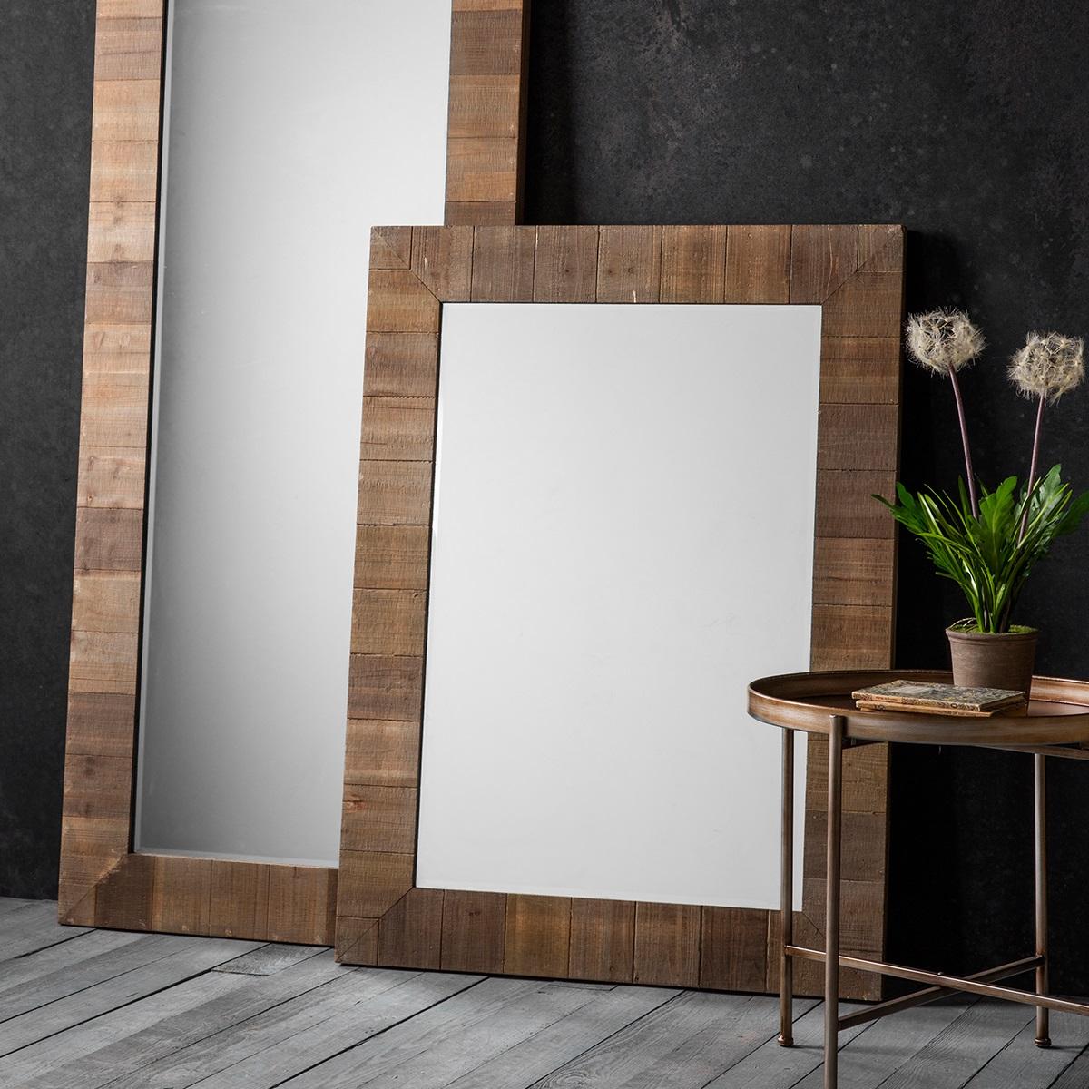 Image of Blake Rectangle Mirror - Brown