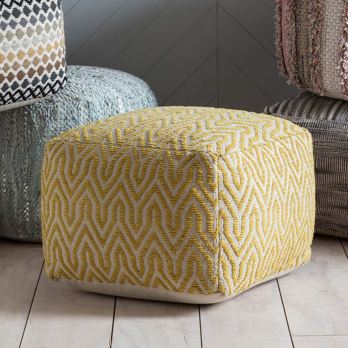 Ada Ochre Pouffe Knees Home And Electrical