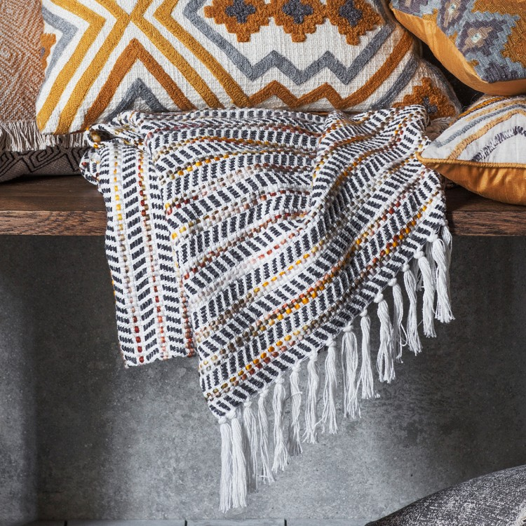 Image of Bo-Kaap Throw - Black/Orange