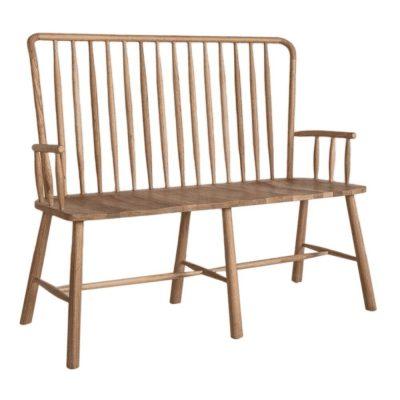 Finn oak wood hall bench