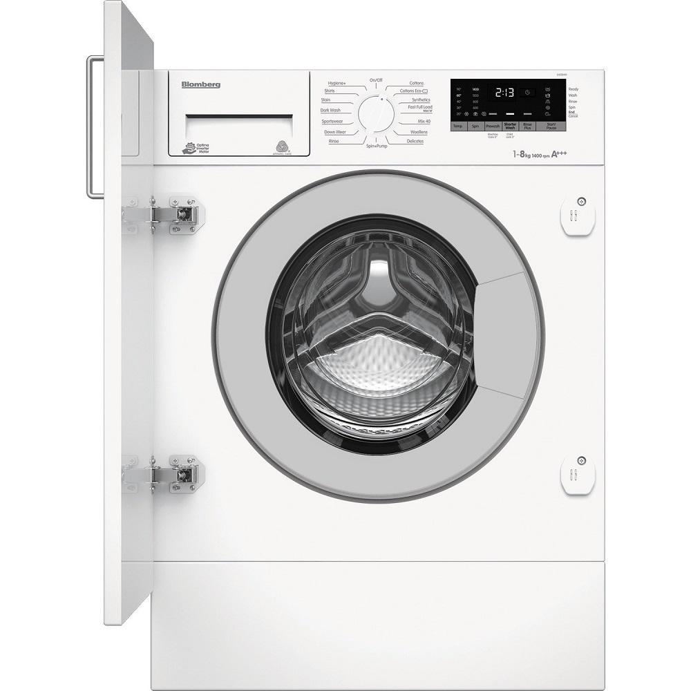 blomberg built in 8kg 1400 spin washing machine knees. Black Bedroom Furniture Sets. Home Design Ideas