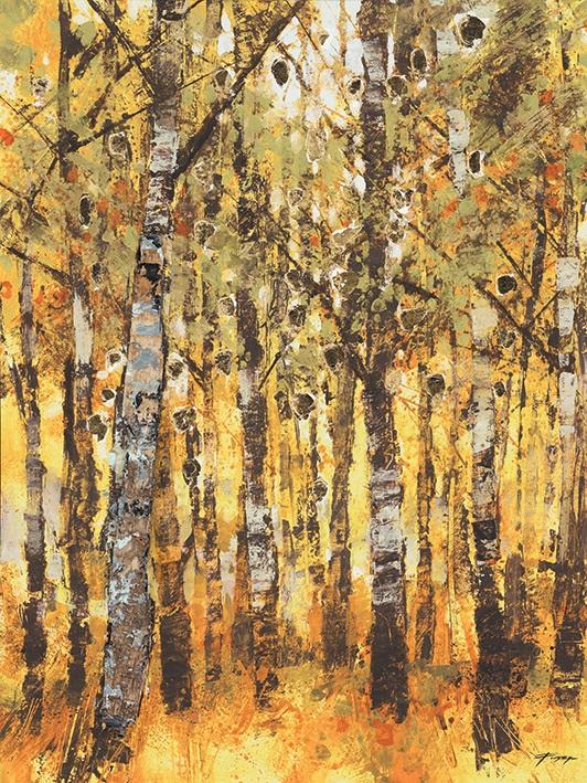 Image of Birch Trees 60 x 80cm Canvas Wall Art