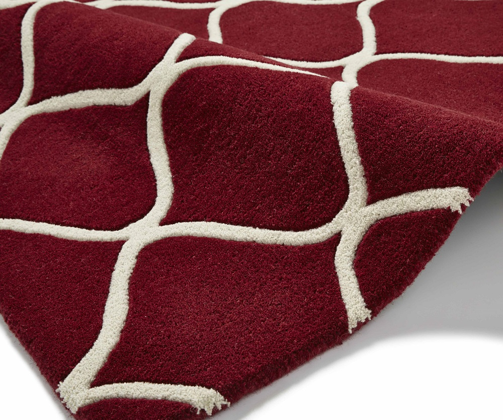 Image of Elements 120cm X 170cm Hand Tufted Wool Rug - Red