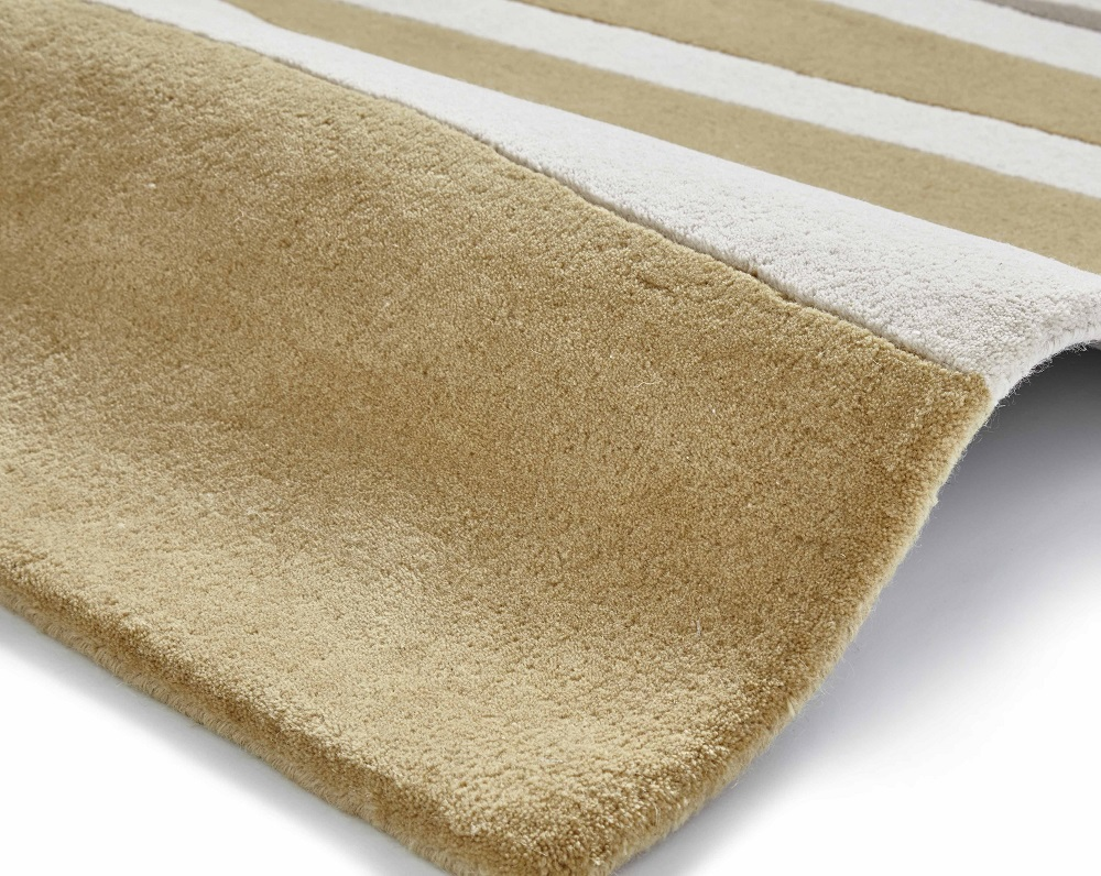 Image of Elements 120cm x 170cm Hand Tufted Wool Rug - Ochre