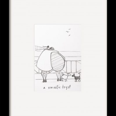 PFMPPR42179F A Romantic Tryst Sketch 35x29 Framed 1