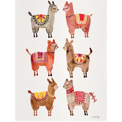 PPR40870 Alpacas 60x80 Framed 1
