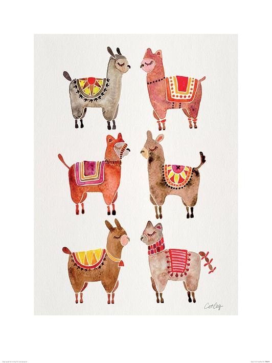 Image of Alpacas 60 x 80cm Framed Wall Art