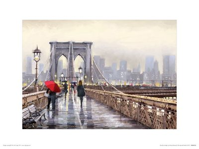 PPR44550 Brooklyn Bridge 30x40 Framed 1