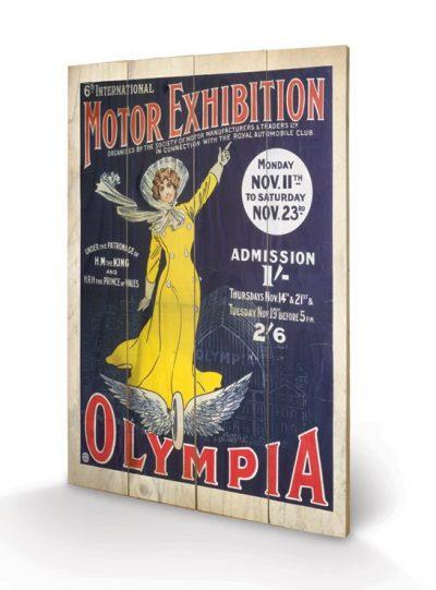 SW10053P London Olympia Wooden Board 1