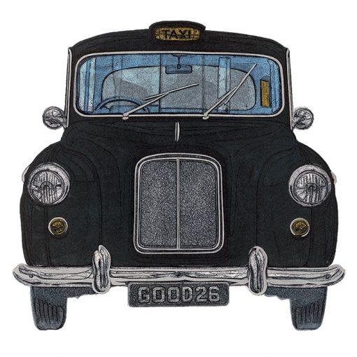 WDC95102 - 44610 Taxi 40x40 Canvas 1