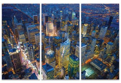 WDCT93228 Manhattan at Night 100x150 Canvas 1