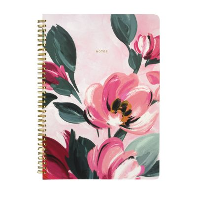 774666-LARGE PAINTBOX FLOWERS A4 SPIRAL NOTEPAD (1)