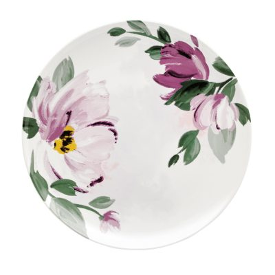 776103-LARGE PAINTBOX FLOWERS DINNER PLATE