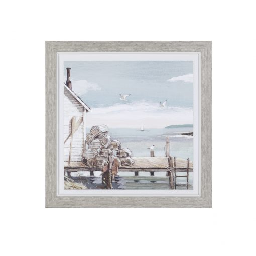 FAC1FKT30024 Fisherman's Catch 36x36 Framed