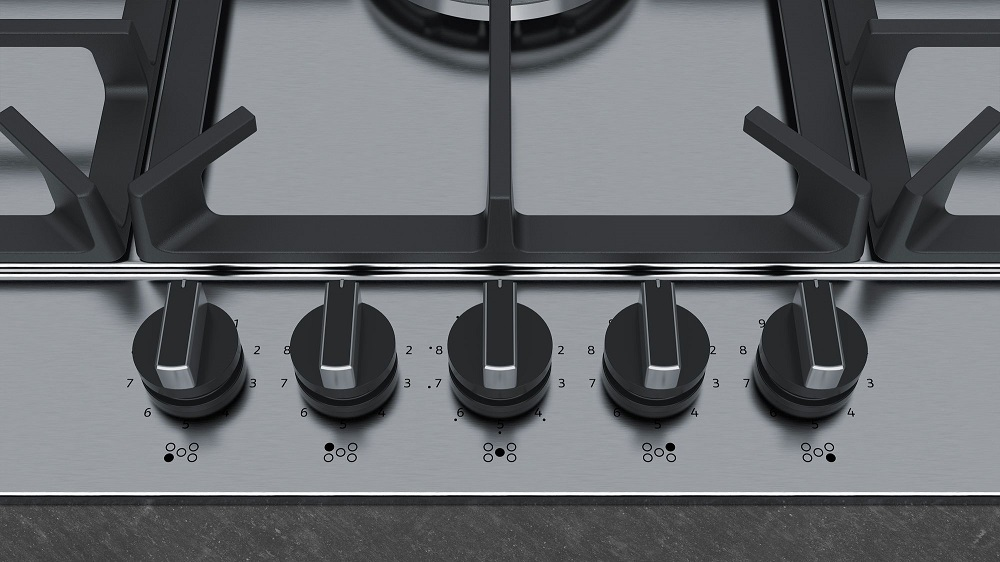Neff T29ds69n0 90cm Gas Hob Stainless Steel Knees Co Uk