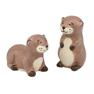 775649-OTTER SALT AND PEPPER SHAKERS