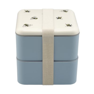 777957-BUMBLE BEE SET OF TWO SQUARE LUNCH BOXES