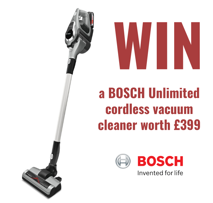 Competition Time – Be in to win a Bosch Unlimited Cordless Vacuum Cleaner