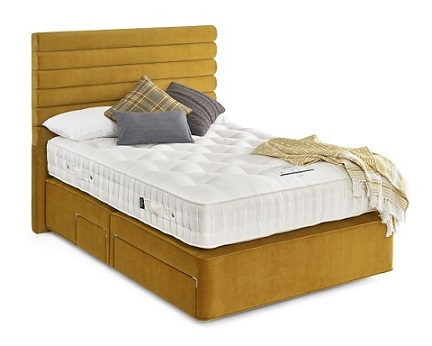 Somnus Diplomat divan king size bed and mattress set with storage draws
