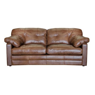 Jude brown leather sofa