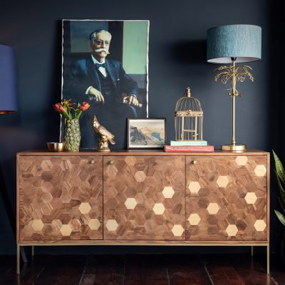 Magnus Dark Acacia Wood Sideboard Lifestyle