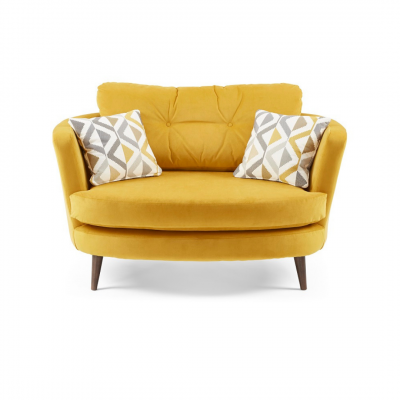 Oscar Snuggler chair in yellow