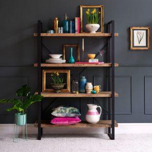 Wyatt Reclaimed Wood Bookcase Lifestyle