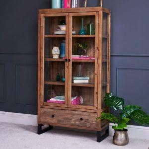 Wyatt Reclaimed Wood Display Cabinet Lifestyle Image 3