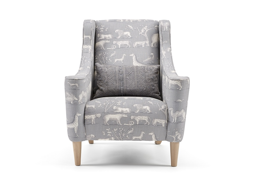 Image of Archer Fabric Armchair - Grey
